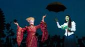 Jody Gelb as Madame Morrible & Jackie Burns as Elphaba in Wicked