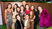 The cast of Usual Girls gets together on opening night.