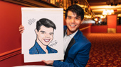 Proud of Your Boy! Telly Leung Receives a Sardi's Portrait