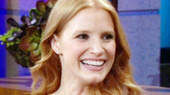 The Heiress' Jessica Chastain Talks Getting Budget Advice from Barbra Streisand & Diet Tips From Al Pacino