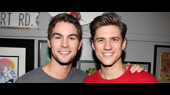Gossip Girl Reunion! Chace Crawford Checks Out Aaron Tveit in Catch Me If You Can