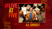 Broadway.com #LiveatFive with Bright Star's A.J. Shively