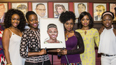 Eclipsed's Lupita Nyong'o Gets Inked! The Tony Nominee Receives a Sardi's Caricature