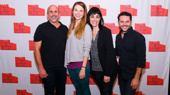 Dream team! New Group Artistic Director Scott Elliott, Sweet Charity star Sutton Foster, director Leigh Silverman and choreographer Joshua Bergasse get together.