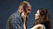 Corey Stoll as Raymond Brock and Rachel Weisz as Susan Traherne in Plenty.