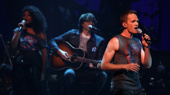 """Rebecca Naomi Jones and Neil Patrick Harris perform """"Origin of Love"""" from Hedwig and the Angry Inch.(Photo: Justin Sullivan/Getty Images)"""