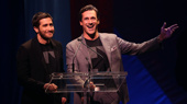 We love these gents! Jake Gyllenhaal and Jon Hamm take the stage.(Photo: Justin Sullivan/Getty Images)
