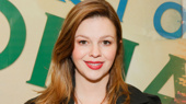 Amber Tamblyn steps out for the off-Broadway opening of The Babylon Line.