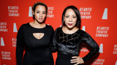 From screen to stage! Orange Is the New Black's Dascha Polanco and Selenis Leyva strike a pose on opening night of off-Broadway's Tell Hector I Miss Him.