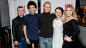 Yen's Jack DiFalco, Justice Smith, Lucas Hedges, Stefania Levie Owen and Ari Graynor snap a group pic.