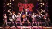 Eric Petersen as Dewey and the cast of School of Rock.