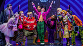 Ben Crawford, Emma Pfaeffle, Kathy Fitzgerald, F. Michael Haynie, Alan H. Green, Christian Borle, Trista Dollison, John Rubinstein, Ryan Foust, Jackie Hoffman & Michael Wartella in Broadway's Roald Dahl's Charlie and the Chocolate Factory
