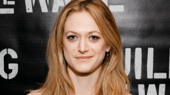 Actress Marin Ireland gets glam for Building the Wall's off-Broadway opening.