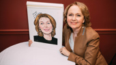 Present Laughter's Kate Burton Receives Her Sardi's Caricature
