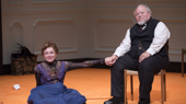 Julie White as Nora and Stephen McKinley Henderson as Torvald in A Doll's House, Part 2.