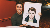 Right This Way! See Bandstand Frontman Corey Cott Receive His Sardi's Portrait