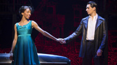 Christiani Pitts as Jane and Bobby Conte Thornton as Calogero in A Bronx Tale.