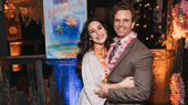 Escape to Margaritaville's Alison Luff and Paul Alexander Nolan hug it out.