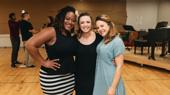 Girl power! Charity Angel Dawson, Desi Oakley and Lenne Klingama snap a pic.