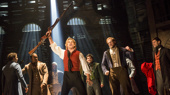 Matt Shingledecker as Enjolras and company in Les Miserables