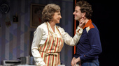 Mercedes Ruehl as Mrs. Beckoff and Michael Urie as Arnold Beckoff in Torch Song.