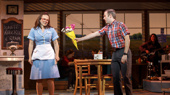 Lenne Klingaman & Jeremy Morse in the national tour of Waitress, photo by Joan Marcus