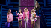 Erika Henningsen as Cady, Ashley Park as Gretchen, Taylor Louderman as Regina, Kate Rockwell as Karen and Barrett Wilbert Weed as Janis in Mean Girls.