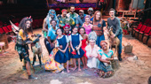 The cast and creatures of Once On This Island celebrate 100 performances(Photo: Emilio Madrid-Kuser)