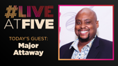 Broadway.com #LiveatFive with Major Attaway of Aladdin