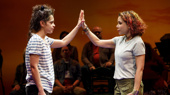 Gizel Jiménez as Olivia and Daphne Rubin-Vega as Beatriz in Miss You Like Hell.