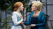 Lauren Ambrose as Eliza Doolittle and Diana Rigg as Mrs. Higgins in My Fair Lady.