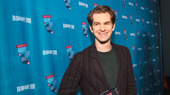 Andrew Garfield is all smiles picking up his award for Favorite Leading Actor in a Play.