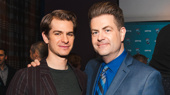 Andrew Garfield and Paul Wontorek celebrate Angels in America's win for Favorite Play Revival.
