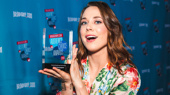 Mean Girls' Erika Henningsen poses with her Favorite Breakthrough Performance Award.