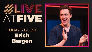 Broadway.com #LiveatFive with Erich Bergen of Waitress