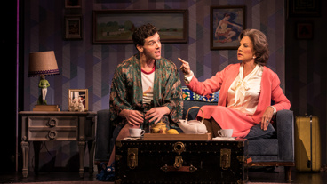 Michael Urie as Arnold and Mercedes Ruehl as Mrs. Beckoff in Torch Song.