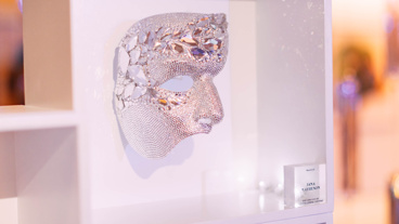 A mask designed by Jana Matheson, EVP and CCO of Judith Leiber Couture.