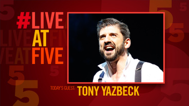 Broadway.com #LiveatFive with Finding Neverland's Tony Yazbeck