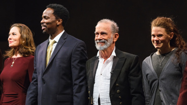 Bravo! Diane Lane, Harold Perrineau, Joel Grey and Celia Keenan-Bolger take a bow following their opening night performance in The Cherry Orchard.
