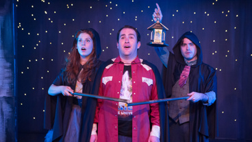 Andy Miller, Zac Moon and Stephen Stout in Puffs.