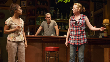 Michelle Wilson as Cynthia, James Colby as Stan and Johanna Day as Tracey in Sweat.