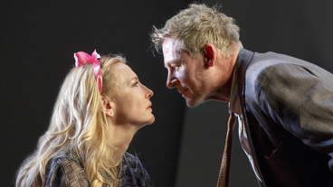 Cate Blanchett as Anna Petrovna and Richard Roxburgh as Mikhail Platonov in The Present.
