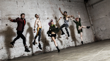 Choreographer Sam Pinkleton, Reed Luplau, Ani Taj, Brandt Martinez and Paloma Garcia-Lee