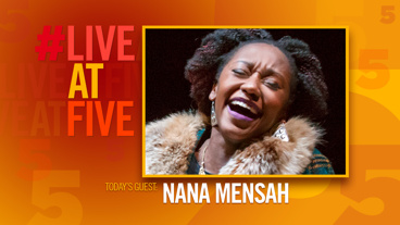 Broadway.com #LiveatFive with Nana Mensah of <i>Man From Nebraska</i>