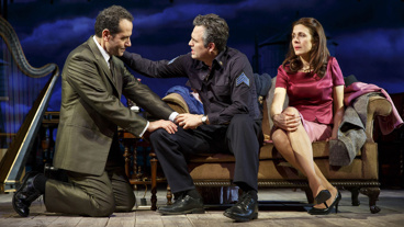 Tony Shalhoub as Walter Franz, Mark Ruffalo as Victor Franz and Jessica Hecht as Esther Franz in Arthur Miller's The Price.