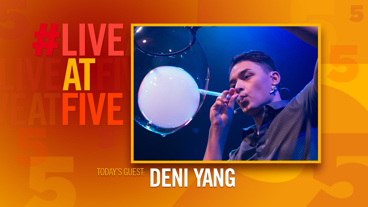 Broadway.com #LiveatFive with Deni Yang of <i>Gazillion Bubble Show</i>