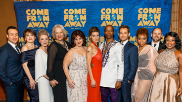 The stars of Come From Away lines up on the red carpet on their Broadway opening night.