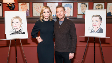 You can catch the talented twosome of Cate Blanchett and Richard Roxburgh at the Ethel Barrymore Theatre through March 19...or on the wall at Sardi's now and forever.