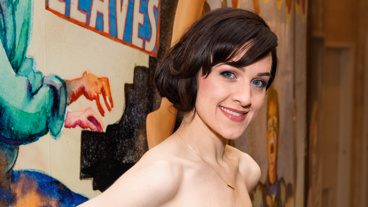 How to Transcend a Happy Marriage's Lena Hall strikes a pose on opening night.