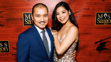 Miss Saigon stars Jon Jon Briones and Eva Noblezada hit the red carpet on their opening night.